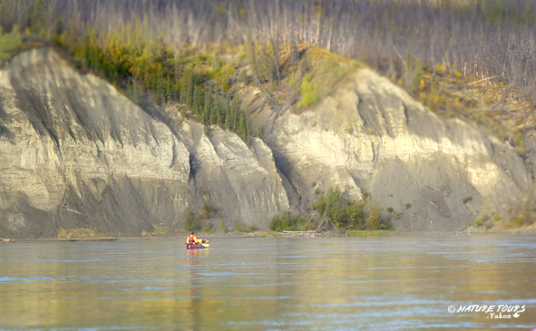 canoeing on the Yukon River Canada with Nature Tours of Yukon