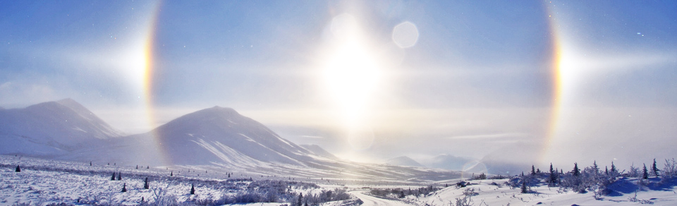 sundogs on the Dempster Highway-Nature Tours of Yukon