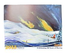 Yukon Quest 2013 poster:  art work by Nature Tours of Yukon's office manager, Conny.