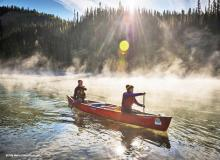 Morning fog on the yukon river