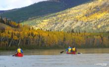 Yukon River Canada- amazing autumn colours.