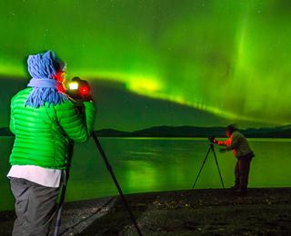 Aurora hunting in Yukon Canada
