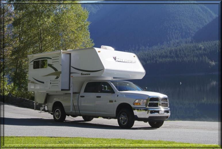 truck camper with slide-out TC-S Rental Yukon and alaska. Nature Tours of Yukon