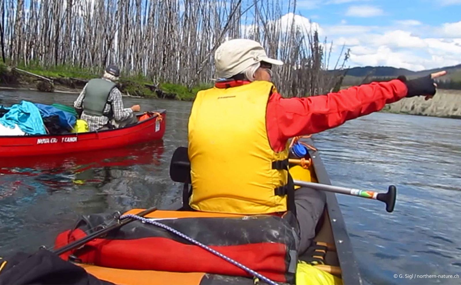 private canoe trip on the Teslin River