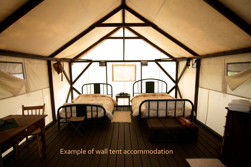 example of wall tent accommodation