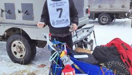 Yukon Quest - Normand before the start.