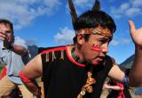 First Nation dancer - Chilkoot Trail Village