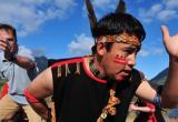 First Nation dancer - Chilkoot Trail Village