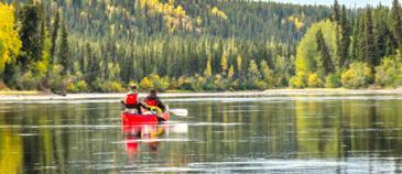 Kanu Tour am Big Salmon River in Yukon, Kanada mit Nature Tours of Yukon