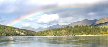 Kanutour auf den Yukon River; der Klondike Gold Rush